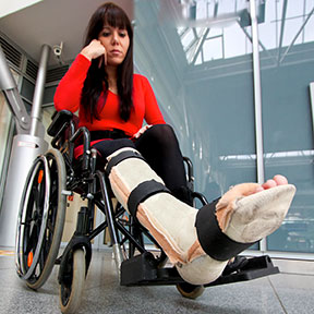 Many accidents can leave Dallas residents in a wheelchair like this one. If you have been hurt, contact a Dallas, Texas personal injury attorney to learn your rights.